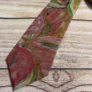 Vintage Company B Abstract Floral Men's Necktie
